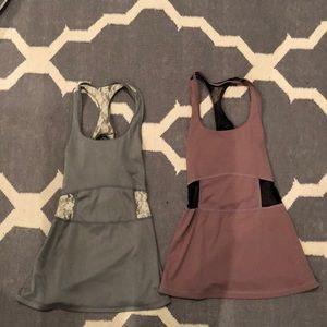 Set of two athletic tops